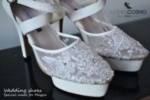 sepatu wedding brokat