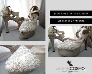 Sepatu Wedding Brokat Womencosmo