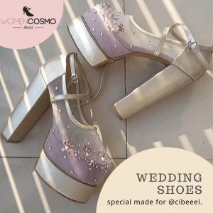 Sepatu wedding gold