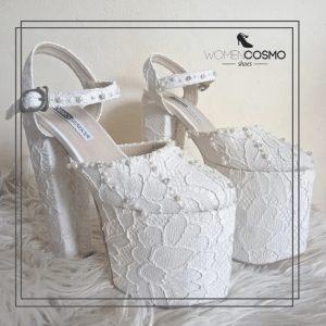 sepatu wedding 17cm putih