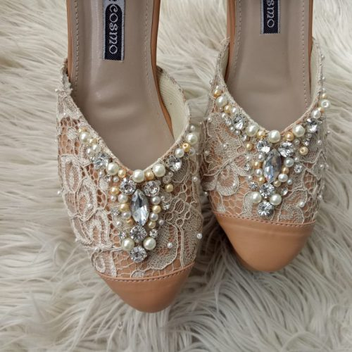 sepatu pengantin brokat
